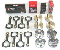 4.6 Ford Modular Piston and Rod Kit with 5140 I beam rods